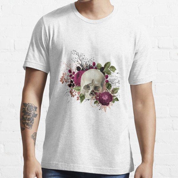 Purple Flowery Skull Essential T-Shirt