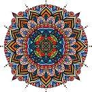 Colorful Mandala by Samm Poirier