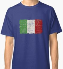 Italy Flag - Vintage Look Classic T-Shirt