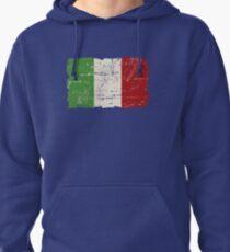 Italy Flag - Vintage Look Pullover Hoodie