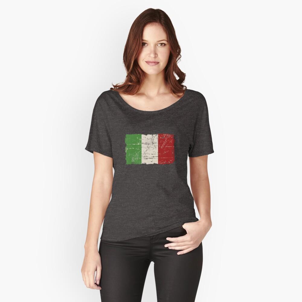 Bandera de Italia - apariencia vintage Camiseta ancha