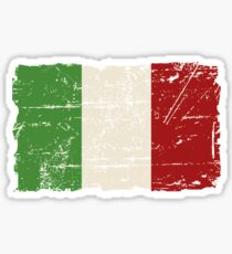 Italy Flag - Vintage Look Sticker
