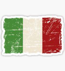 Pegatina Bandera de Italia - apariencia vintage