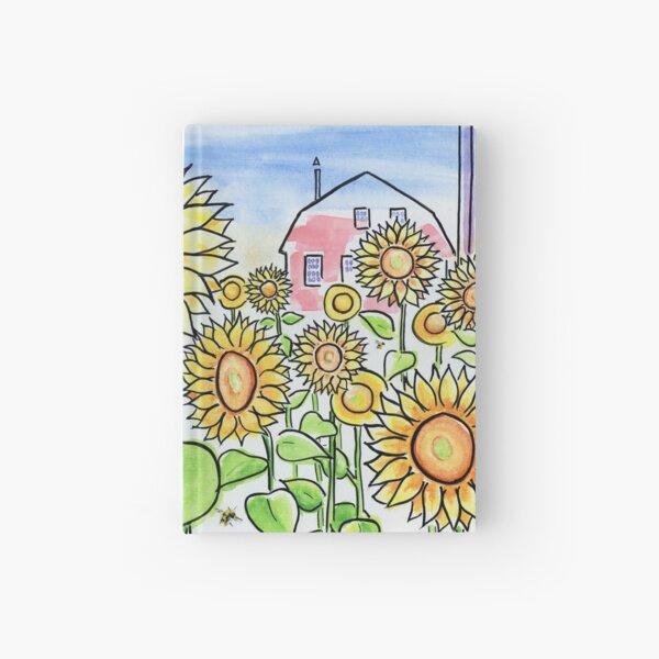 Sunflower Dreams - Field of Summer Sunflowers Hardcover Journal