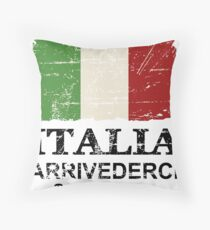 Italy Flag - Vintage Look Throw Pillow