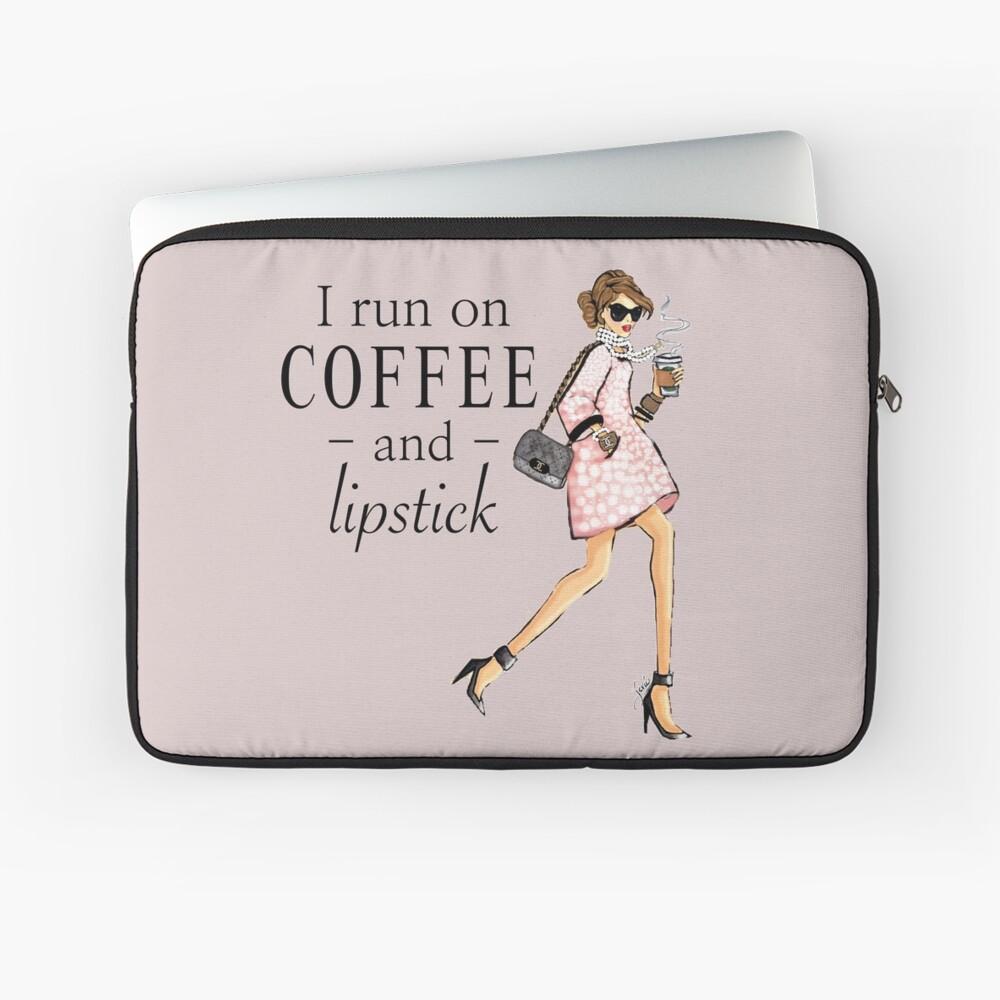 Ich laufe auf Kaffee und Lippenstift Laptoptasche