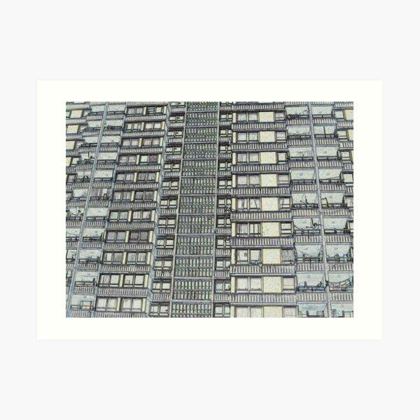 Hanover, Broomhall flats ,Sheffield 3 Art Print