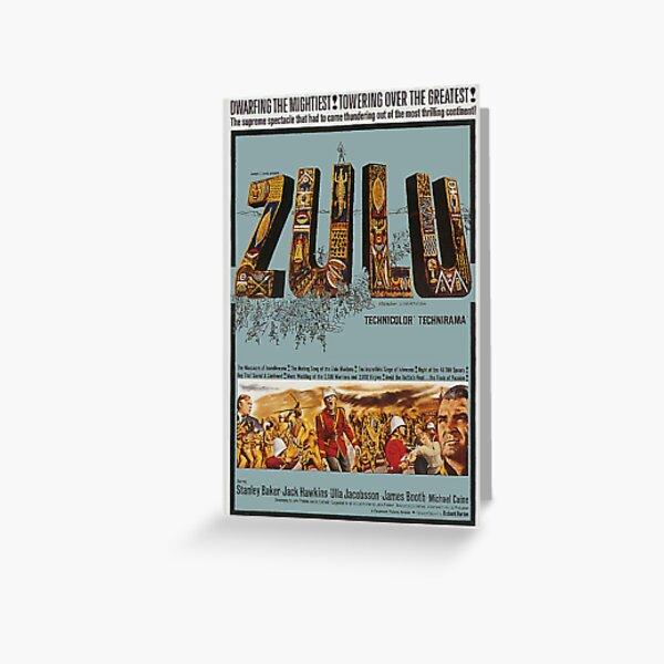 ZULU MOVIE POSTER. Greeting Card