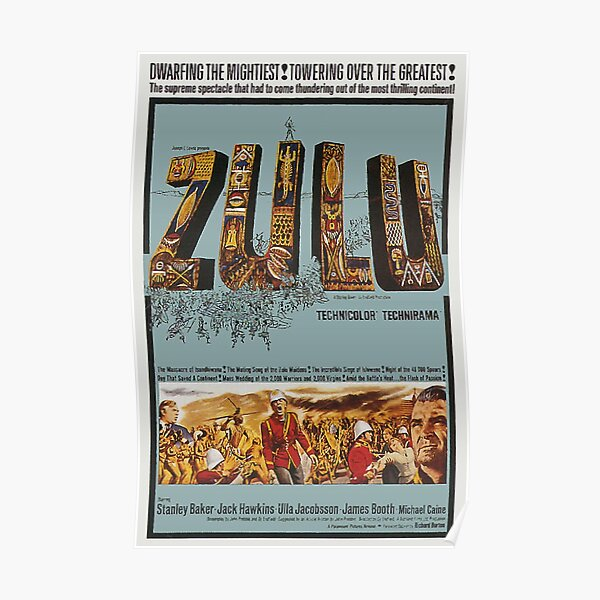 ZULU MOVIE POSTER. Poster