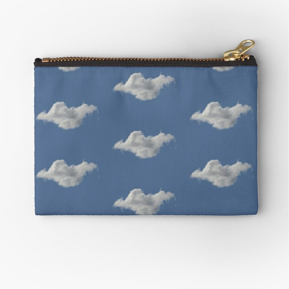 Blue Sky, Single Cloud Pattern Zipper Pouch