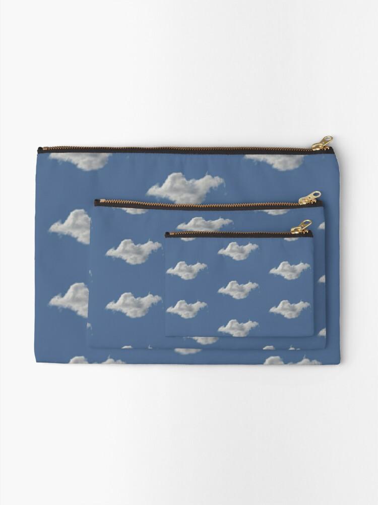 Alternate view of Blue Sky, Single Cloud Pattern Zipper Pouch