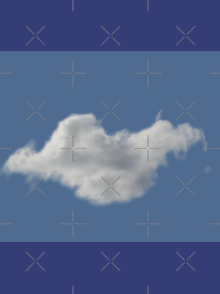 Blue Sky, Single Cloud Pattern by tribbledesign