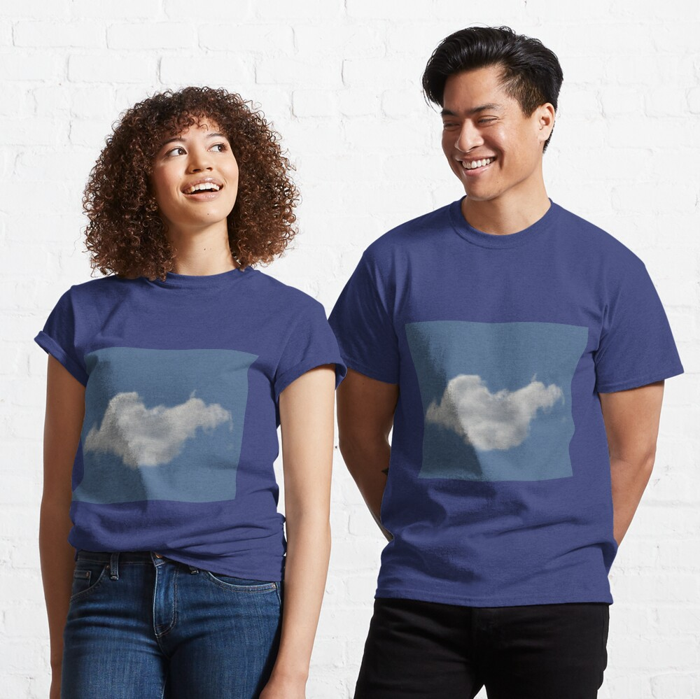 Blue Sky, Single Cloud Pattern Classic T-Shirt