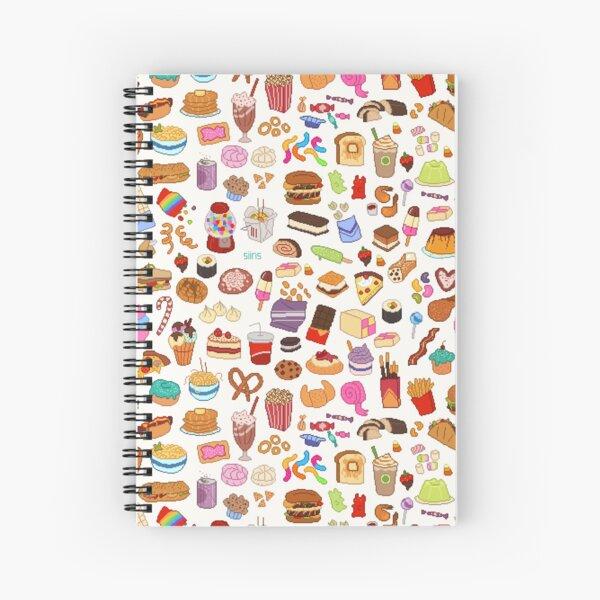 Cute Pixel Junk Food Spiral Notebook