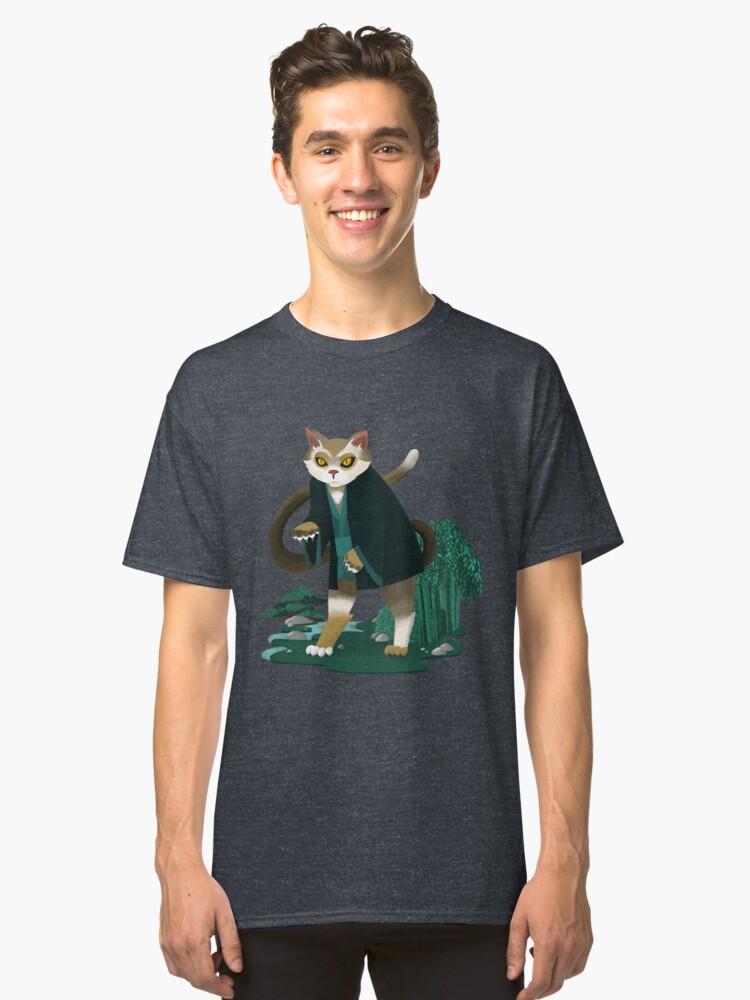 T-shirt classique ''Bakeneko Chat': autre vue