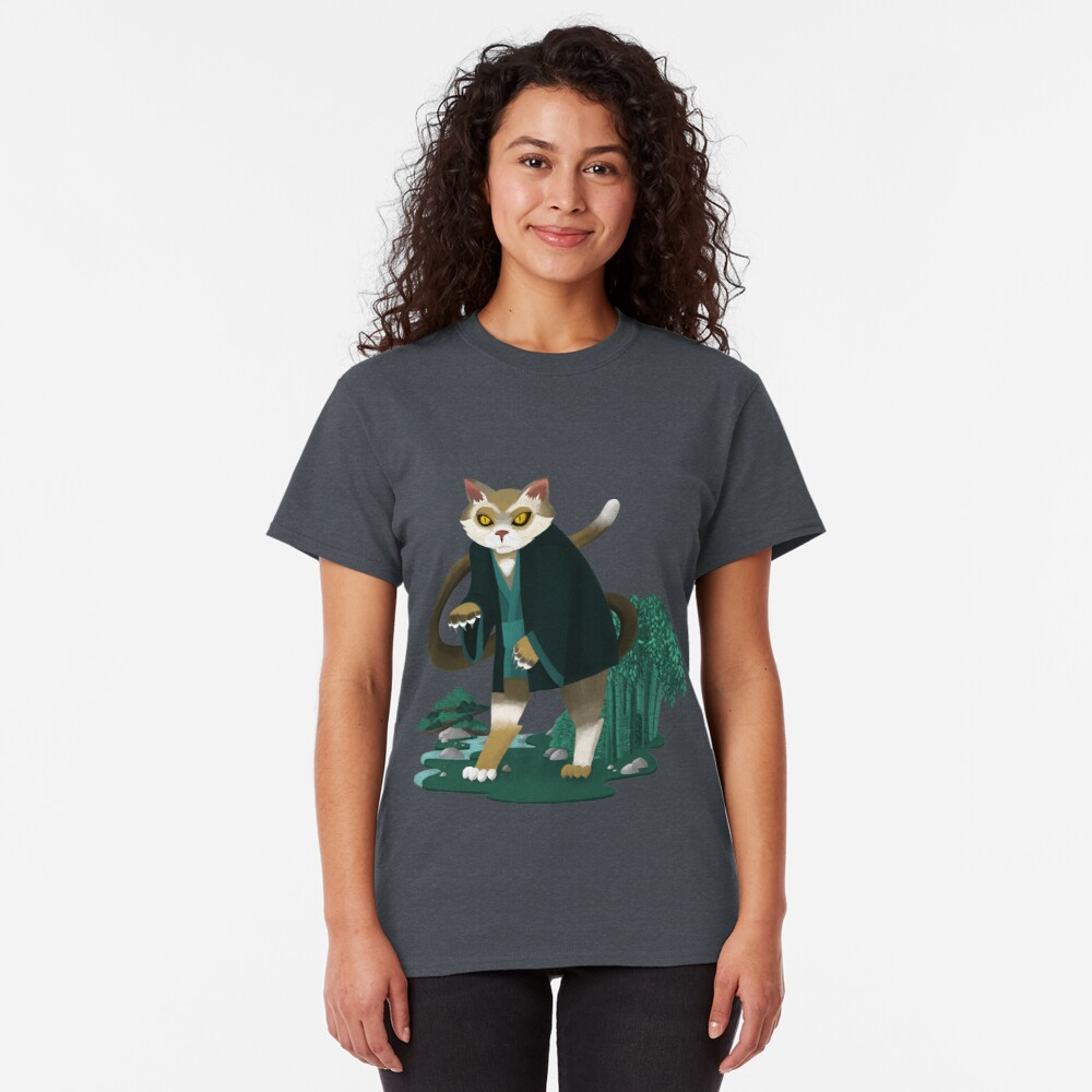 T-shirt classique «Bakeneko Chat»