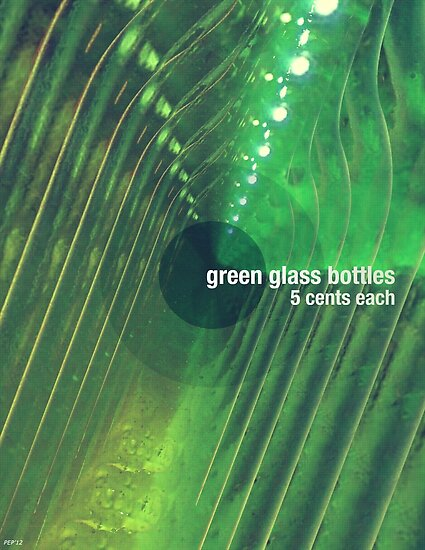 Green Glass Bottles by Phil Perkins