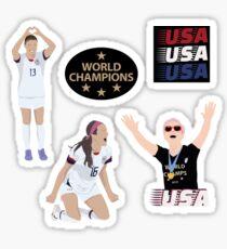 US Women's National Soccer Team - USWNT - Sticker Pack Sticker