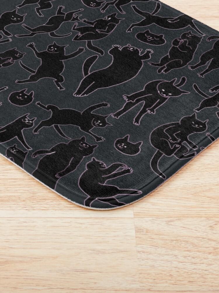 Alternate view of BLACK CATS Bath Mat