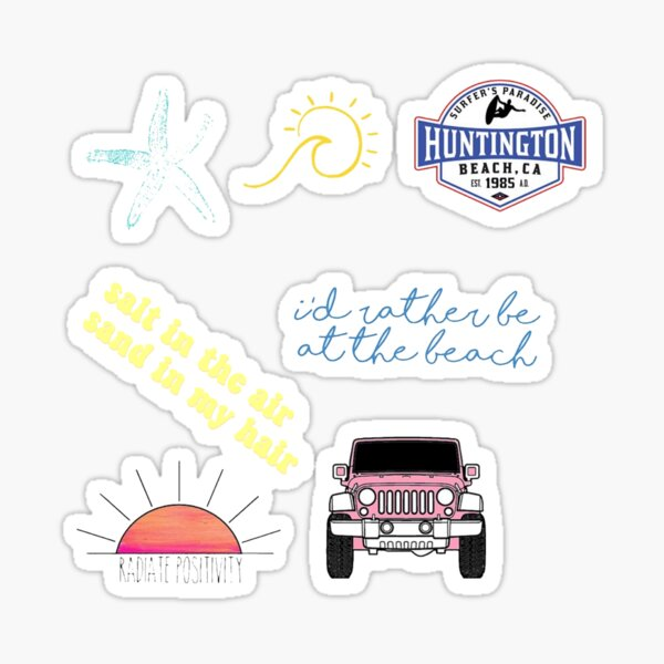 beach sticker pack #3 Sticker