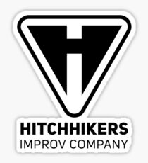 Hitchhikers Improv (Black) Sticker