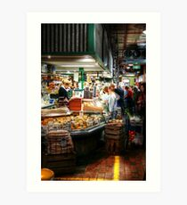 Cheese 44 at Adelaide Central Market Art Print