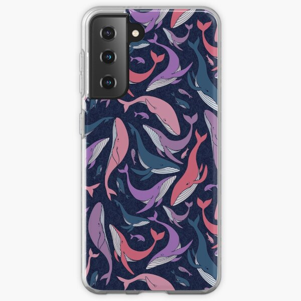A school of whales - pink and purple Samsung Galaxy Soft Case