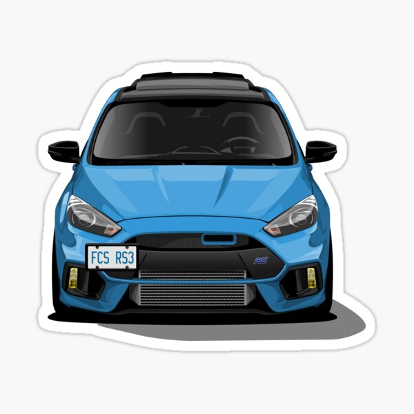 Ford Focus RS Wall Art Sticker 2008-2011 *