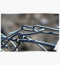 Wire fence Poster