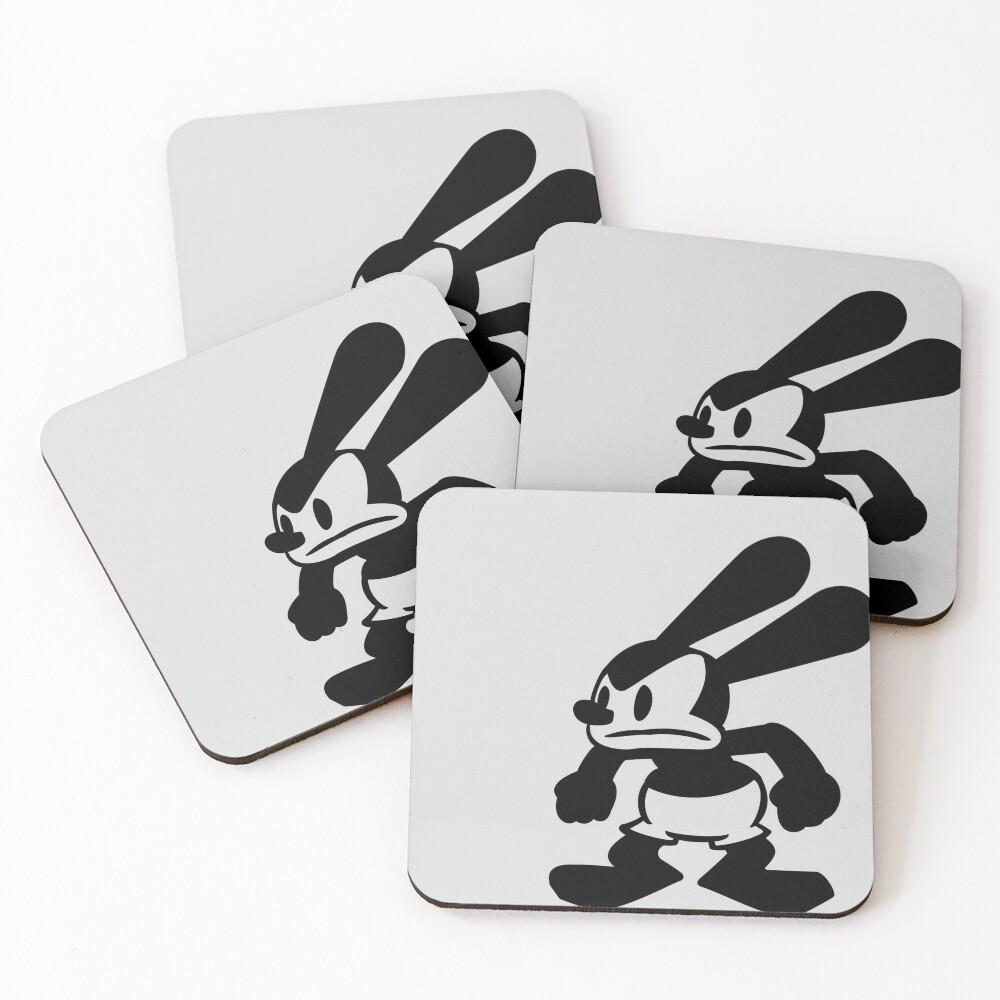 Angry Oswald Coasters (Set of 4)