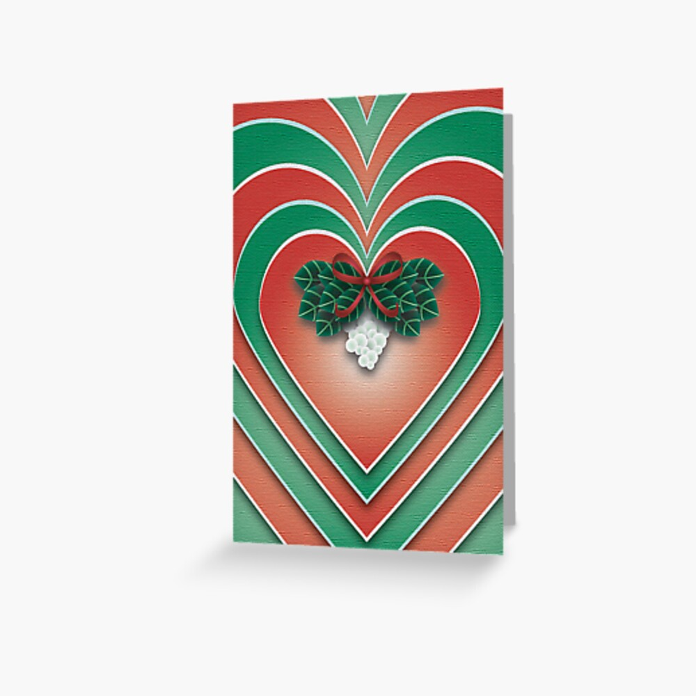 Mistletoe Heart - A Christmas Card Greeting Card