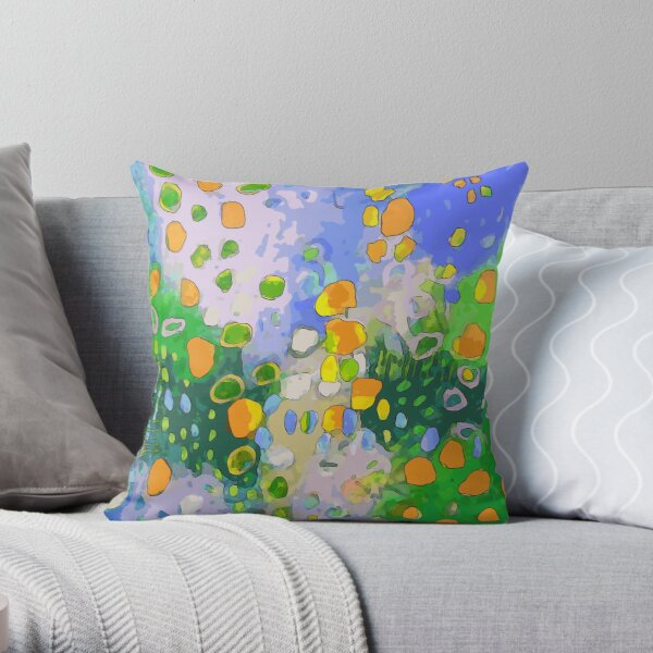 Abstract Flower Field:  Throw Pillow