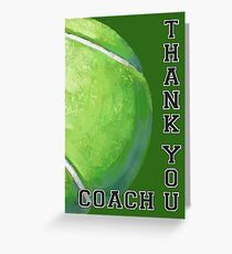 Tennis Ball Art Thank You Coach Greeting Card