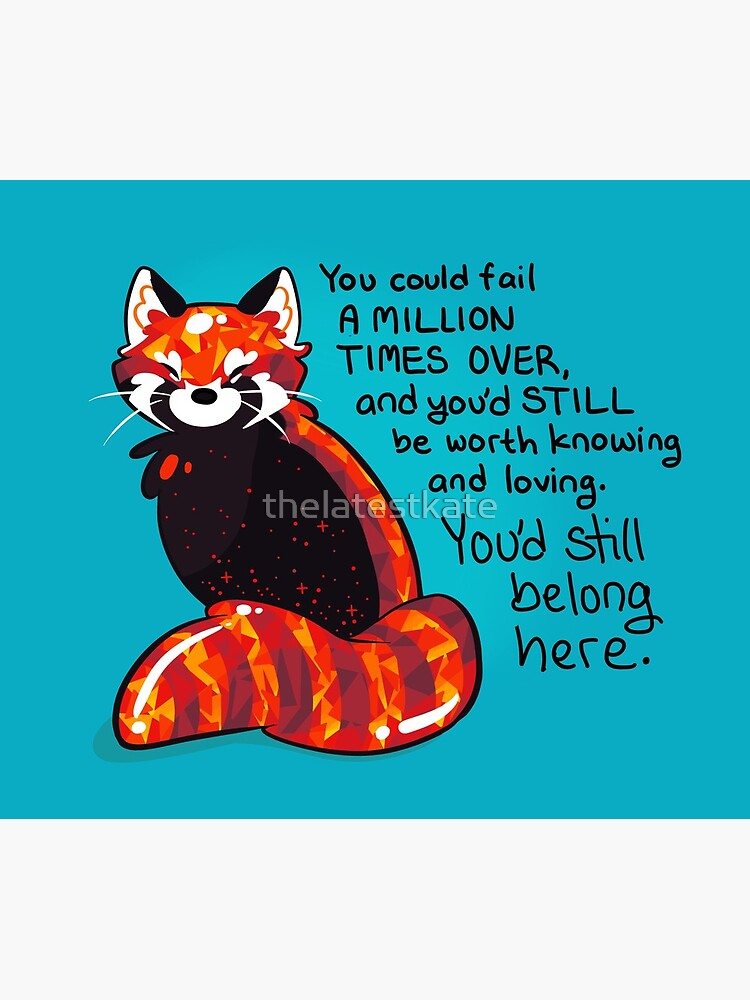 """""""You could fail A MILLION TIMES"""" Ruby Red Panda by thelatestkate"""