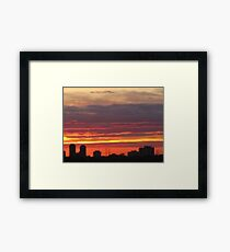 West Side Story  Rumble Sunset Framed Print