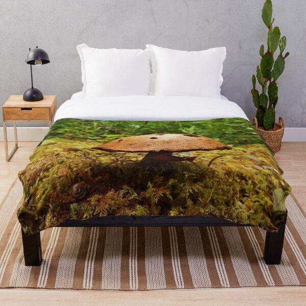 Alaska Mushroom - unidentified type Throw Blanket