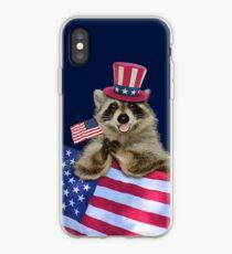 Patriotic Raccoon iPhone Case