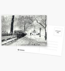 Winter Night - Madison Square Park - New York City Postcards