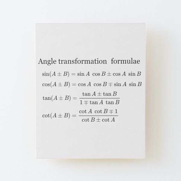 #Angle #Transformation #Formulae Wood Mounted Print