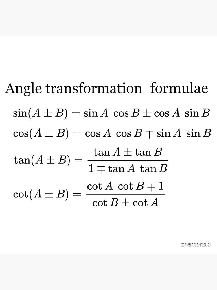 #Angle #Transformation #Formulae by znamenski