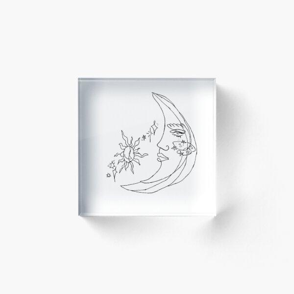 moon tattoo Acrylic Block