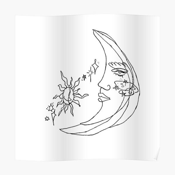 moon tattoo Poster