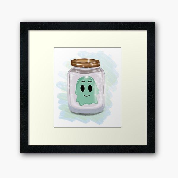 Ghost in a jar Framed Art Print