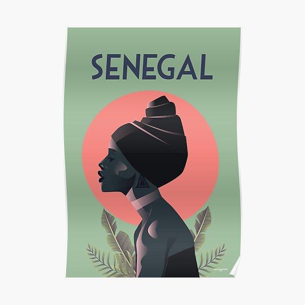 Senegal travel poster illustration print wall art Poster