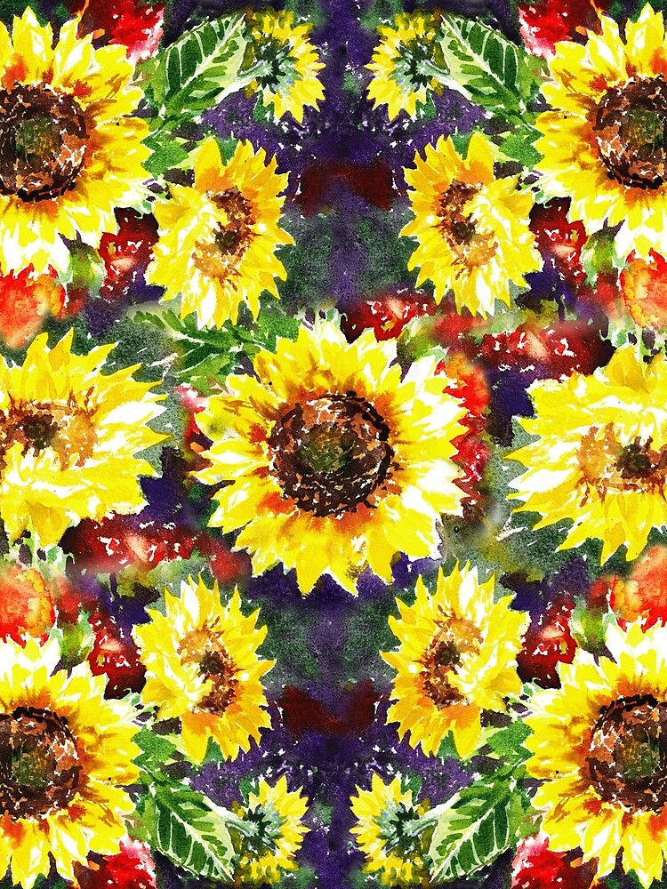 Impressionistic Sunflowers Pattern by IrinaSztukowski