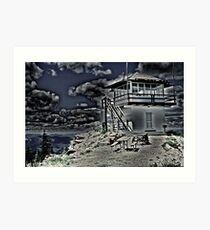 Little Guard Lookout Tower Art Print