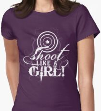 Shoot Like A Girl Women's Fitted T-Shirt