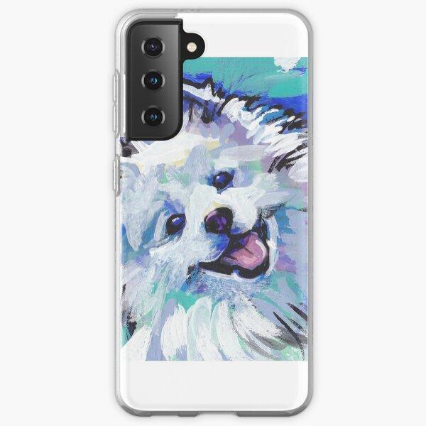 American Eskimo Bright Colorful Pop Art Samsung Galaxy Soft Case