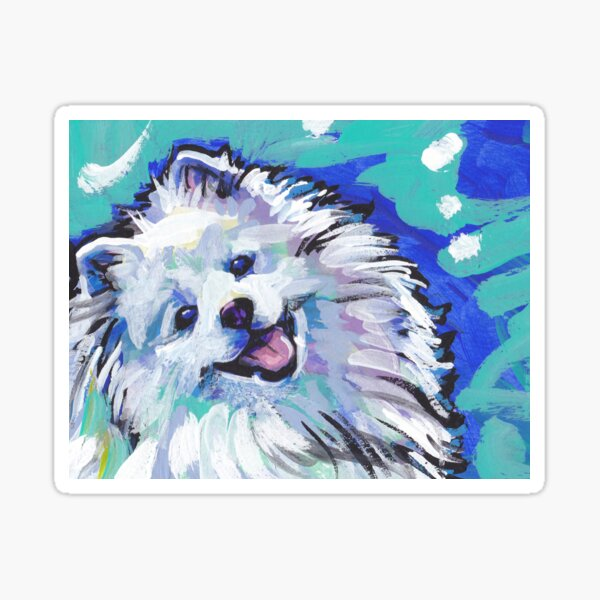 American Eskimo Bright Colorful Pop Art Sticker