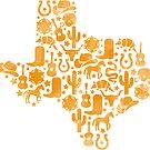 «Naranja Texas Símbolos Acuarela» de Lindsey Morrison
